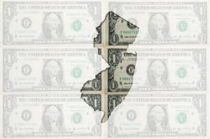 Outline Map Of New Jersey With Transparent American Dollar Bankn