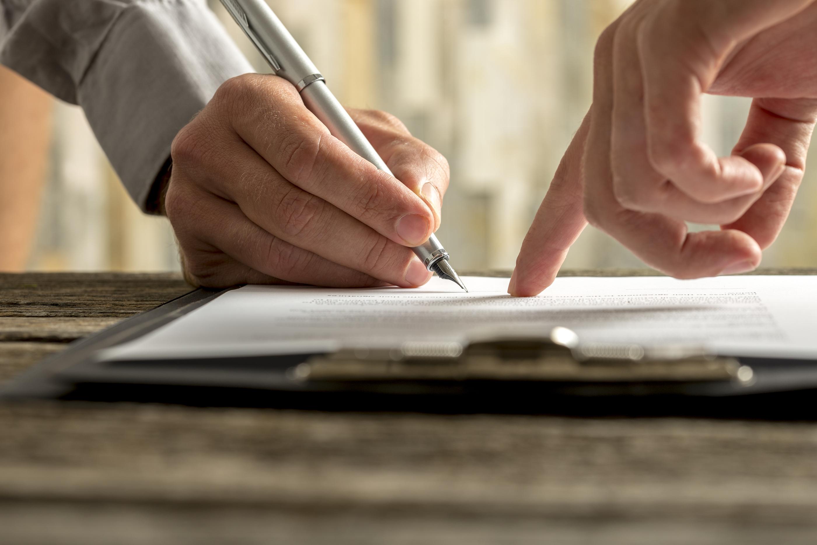 employee signing